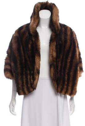 Fur Shearling Open Front Shrug