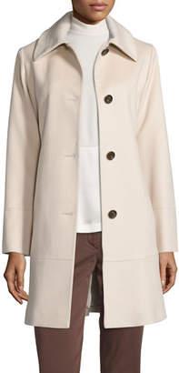 Fleurette Classic Wool Coat, White $1,025 thestylecure.com