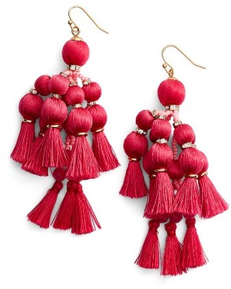 Women's Kate Spade New York Pretty Pom Tassel Drop Earrings $98 thestylecure.com