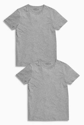 Next Mens Grey T-Shirts Two Pack