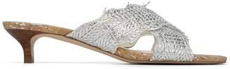 Donald J Pliner ELLY, Metallic Raffia Heeled Sandal