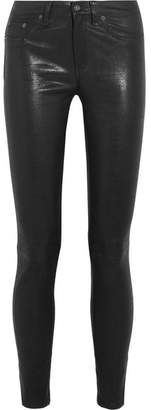 rag & bone - Stretch-leather Skinny Pants - Black
