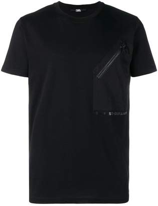Karl Lagerfeld Woven Pocket Logo T-Shirt