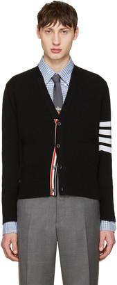 Thom Browne Black Classic Short V-Neck Cardigan $1,750 thestylecure.com
