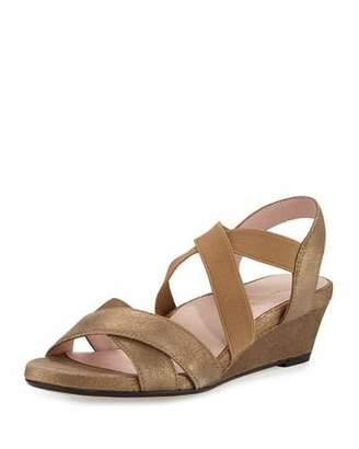 Taryn Rose Spiro Strappy Demi-Wedge Sandal, Quinoa $239 thestylecure.com