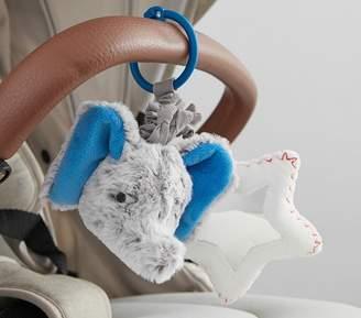 Pottery Barn Kids Preppy Plush Stroller Clip - Elephant