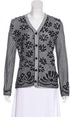 Bottega Veneta Jacquard Long Sleeve Cardigan