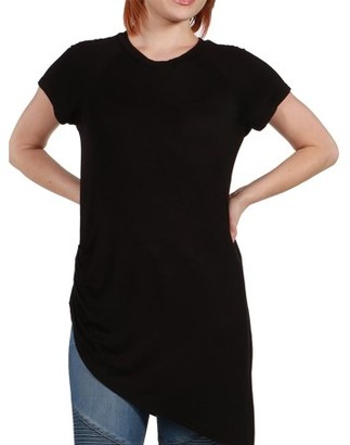 24/7 Comfort Apparel Women's Zola Asymmetric Short Sleeve Tee