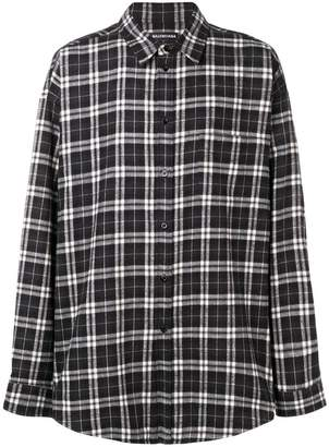 Balenciaga relaxed plaid shirt