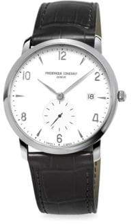 Frederique Constant Stainless Steel& Leather Strap Watch
