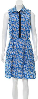 Tanya Taylor Floral Cutout Dress