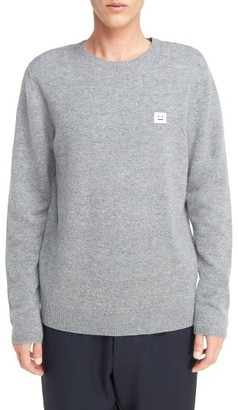 Men's Acne Studios Logo Patch Wool Pullover $280 thestylecure.com