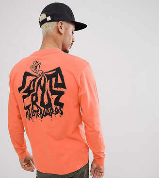 Santa Cruz Spill Long Sleeve T-Shirt In Orange Exclusive To Asos