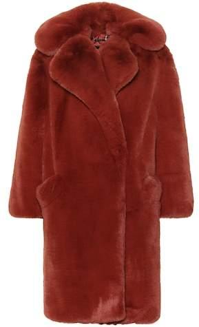 Oversized faux fur coat