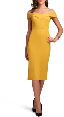Women's Eci Off The Shoulder Sheath Dress $88 thestylecure.com