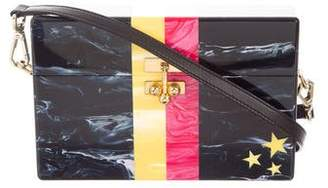 Edie Parker Stars And Stripes Trunk Bag