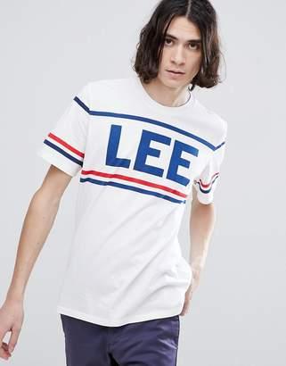Lee 90s Sportwear Logo T-Shirt in White