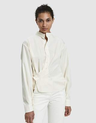 Lemaire High Collar Twisted Shirt