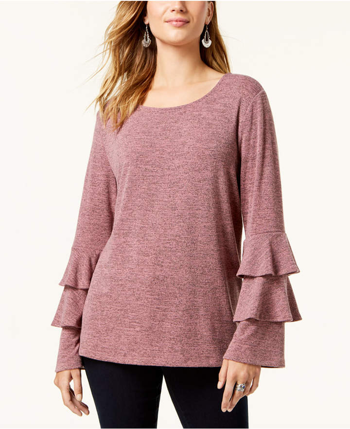 Style & Co Tiered-Sleeve Top