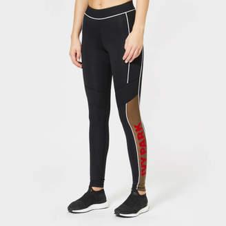 828132eadcf676 Ivy Park Women's Sheer Flocked Active Logo Leggings
