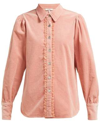 Ganni Ridgewood Corduroy Shirt - Womens - Light Pink