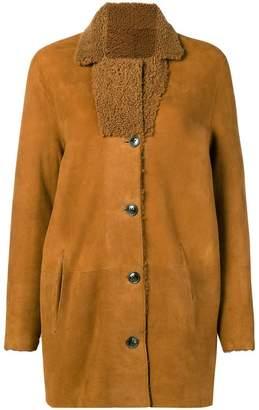Closed reversible shearling coat