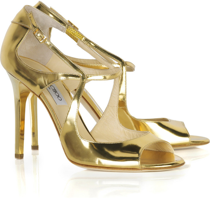 Jimmy Choo Presta metallic sandals