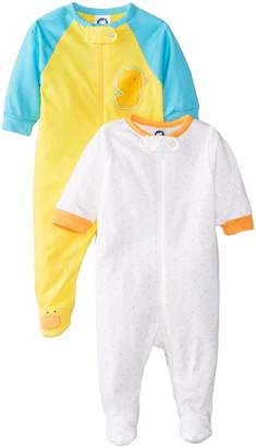 Gerber Unisex Baby 2 Pack Zip Front Sleep 'N Play, s, New Born