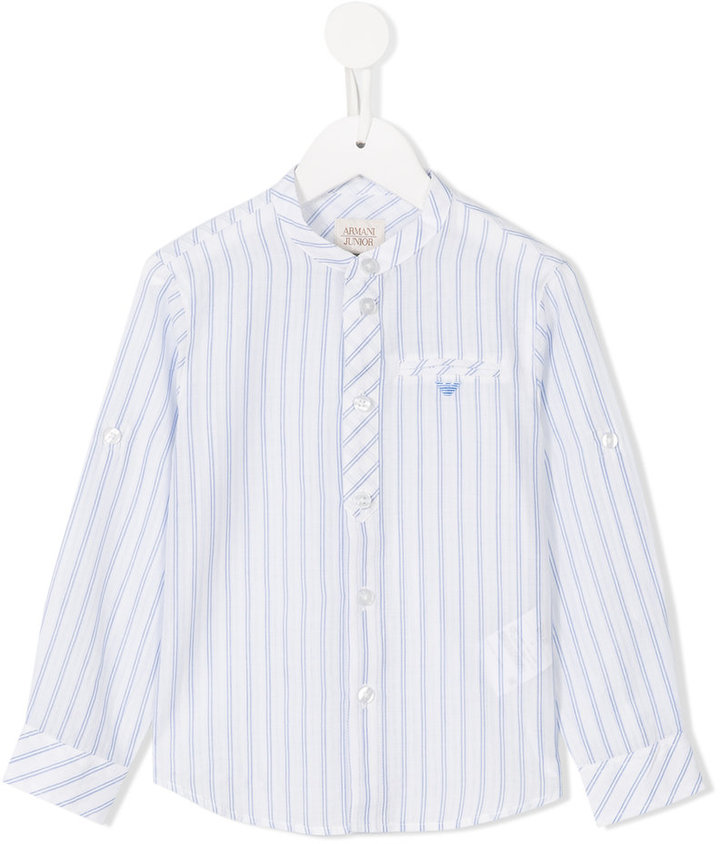 Armani Junior Armani Junior striped shirt