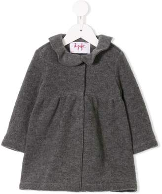 Il Gufo ruffled collar coat