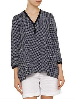 David Jones Print V-Neck Tunic