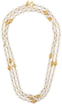 Chanel Pre-Owned triple strand pearl necklace