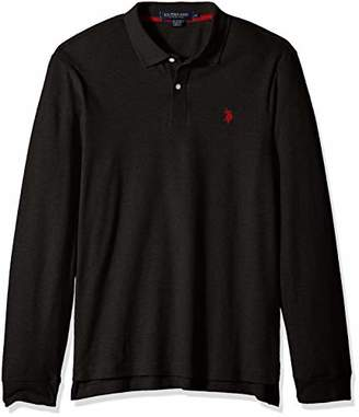 U.S. Polo Assn. Men's Long Sleeve Interlock Polo Shirt