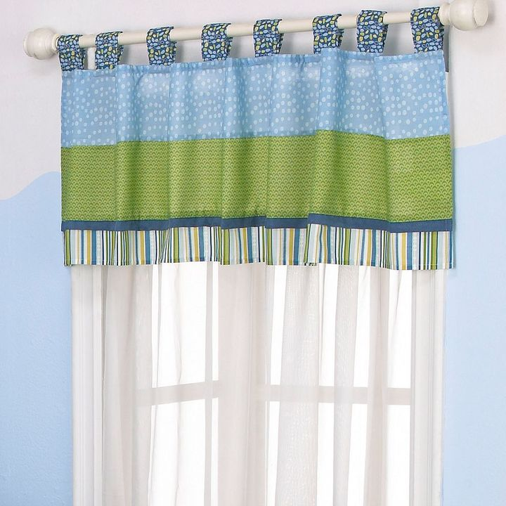 CoCalo TM baby turtle reef striped window valance