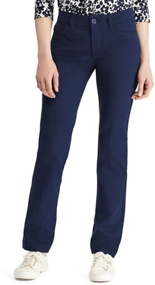 Chaps Women's Twill Midrise Straight-Leg Pants