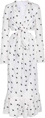 Carolina Herrera Long Sleeve Cutout Dress