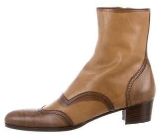 Miu Miu Distressed Brogue Boots