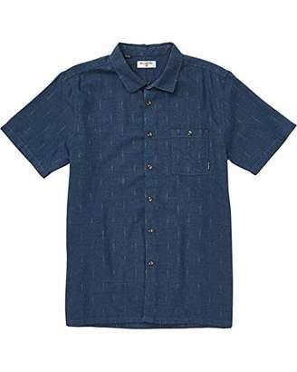 Billabong Men's Sundays Jacquard Short Sleeve Woven Shirt