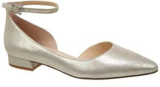 Franco Sarto Slide Leather Ankle Strap Flat