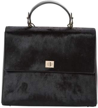 HUGO BOSS Black Pony-style calfskin Handbag