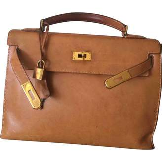Hermes Vintage Kelly 32 Camel Leather Handbag