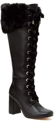 Nanette Lepore NANETTE Flora Faux Fur Knee High Boot