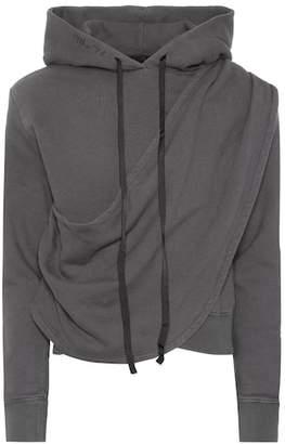 Unravel Draped cotton hoodie
