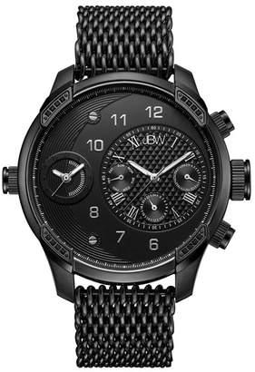 JBW Men's G3 World Traveler Diamond Mesh Bracelet Watch Set, 46mm - 0.16 ctw
