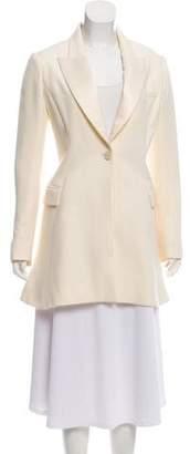 Christian Dior Silk Notched Lapel Blazer