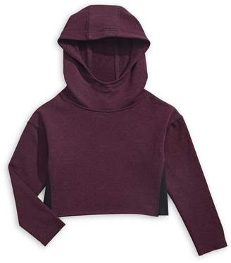Jill Yoga Little Girl's Cropped French Terry Hoodie