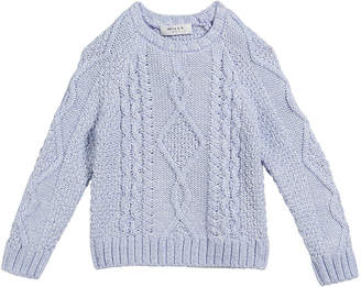 Milly Aran Cable-Knit Pullover Sweater Size 7-16