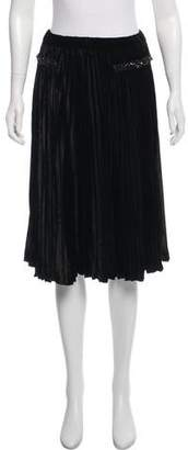 No.21 No. 21 Velvet Pleated Skirt w/ Tags