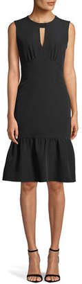 Milly Peyton Italian Cady Ruffled Dress