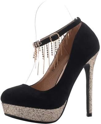 d417f173031 at Amazon Canada · Mila Louise Lady ELVA08 Women Fashion Embellished Sparkles  Party Pumps High Heel Stilettos Sexy Rhinstone Ankle